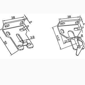 Wandhalterung SET ZJ1602 für Antriebe der ESD16 und EYD16-Serie