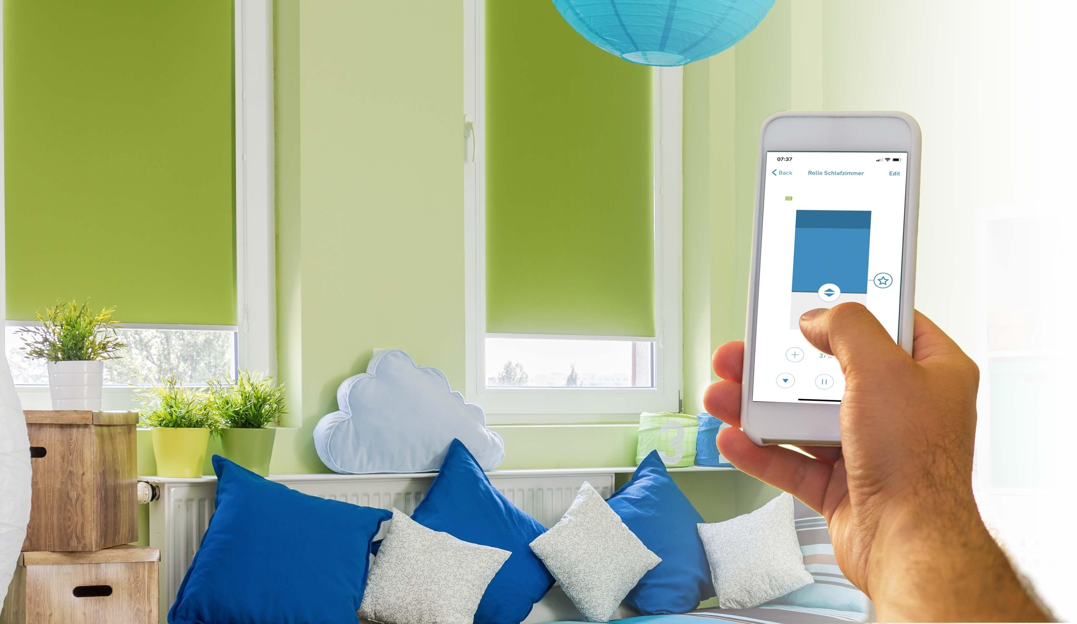smart home rollos elektrisch siro shop rollos smart. Black Bedroom Furniture Sets. Home Design Ideas